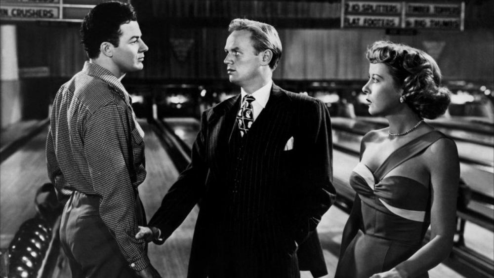 Cornell Wilde, Richard Widmark, and Ida Lupino in 'Road House'
